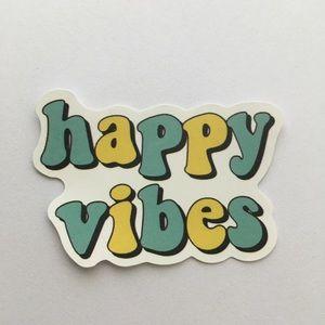 Happy vibes sticker